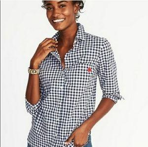 Old Navy Gingham Checkered Heart Shirt B46